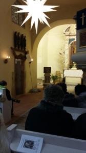 Blick zum Altar in der Röglitzer Kirche